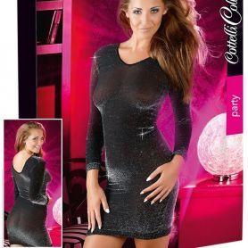 Zwart glitter jurkje