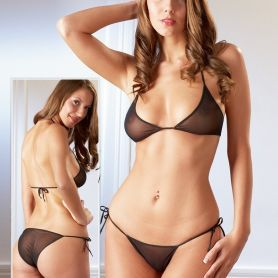 Bikini setje met strikbandjes