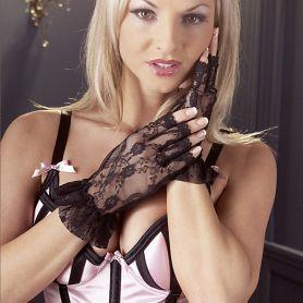 Zwart kanten handschoentjes