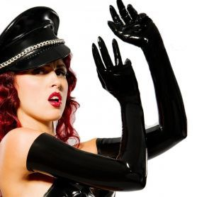 Latex opera gloves