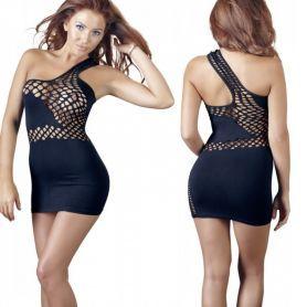 Zwart elastisch jurkje