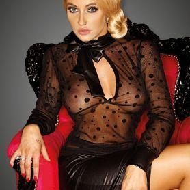 Transparante blouse met strik
