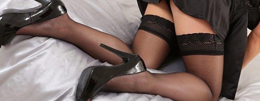 Maak je lingerie set compleet met een mooie stay-up of holdup kousen